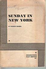 Sunday in New York 1962 Script