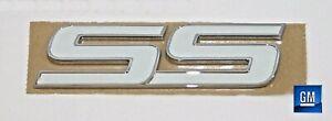 08-10 HHR SS 05-09 Trailblazer SS White Chrome SS Door Emblem  NEW GM  285