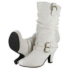 "Yoki Crunch 3"" Heel Women Black & White Boots"