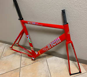 "Cinelli Vigorelli Shark track frame-set - ""Red Alert"" (multiple sizes) red hook"