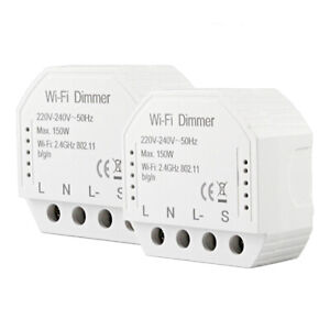 2PCS MS-105 SMART WIFI PHONE APP REMOTE CONTROL LED LIGHT DIMMER SWITCH ALL