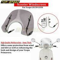 Motorcycle Scooter Smoke Windshield Flyscreen & Fitting Kit For Vespa LX150 LX50