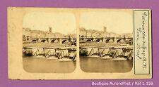 VUE STÉRÉO VIEW : PARIS 1855 , LE PONT NEUF, PANORAMA -L158