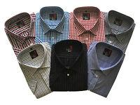 Mens Short Sleeve Reg/Big Size Summer Check Shirts M to 5XL Cotton Blend