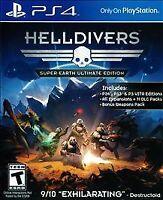 Helldivers Super Earth Edition PlayStation 4 PS4 Game No DLC's Hell Divers Rare