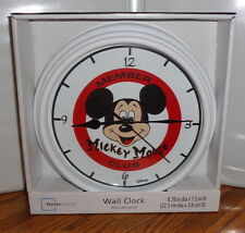 "MICKEY MOUSE CLUB WALL CLOCK # 2. 9"" DIA. WALT DISNEY.....FREE SHIPPING"