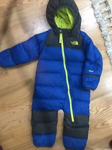 The North face bunting 550 snowsuit 12-18 months