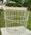 Vintage Metal Wire Farm Country Chippy Egg Produce Basket Antique Heavy Duty Old