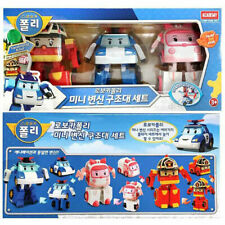 Authentic Robocar Poli mini transformer rescue set toy US SELLER