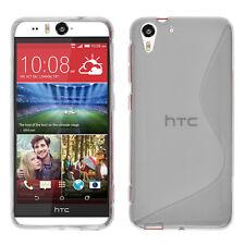 Housse Etui Coque TPU Silicone gel Motif S TRANSPARENT pour HTC Desire 510