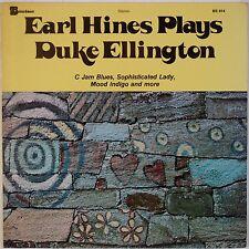 EARL HINES: Plays Duke Ellington USA BitterSweet JAZZ LP '78  Piano VG++