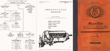 ROLLS ROYCE MERLIN ENGINE SERVICE OPS MANUAL WW2 ARCHIVE 66 67 70 71 77 85 1944