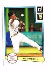 DEE Gordon 2016 PANINI DONRUSS, 1982 diseño, Baseball cartas
