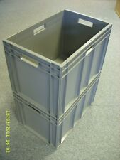 3 New Grey Removal Storage Crate Container 75L