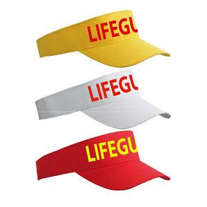 Life Guard Yellow Red White Sun Visor - Lifeguard Sunvisor Sports Cap Hat LG064