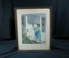 "Antique Print by Henry Troth – ""RETURN"" – Original Wood Frame - Signed in Pencil"