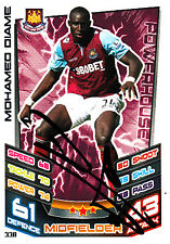 West Ham United F.C Mohamed Diame Hand Signed 12/13 Premier League Match Attax