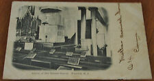 Antique Postcard of the Interior of the Old tennant Church in Freehold, NJ, 1906
