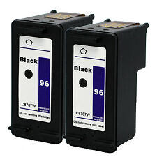 2PKs HP 96 Black Ink Cartridge C8767WN HP96 Officejet 7210 7310 7408 7410 7410xi