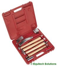 Sealey Tools CB58 Panel Body Beating Set Drop Forged Dolly Hickory Shaft Hammer