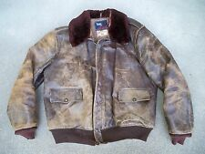 Vtg WW2 Era Civilian A-2 Leather Flight Mens Jacket Aero Pony Horsehide Bomber M