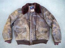 Vintage WW2 USAAF A-2 Leather Flight Men's Jacket Aero Pony Horsehide Bomber Med
