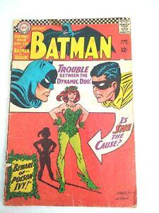 Vintage Batman #181 DC Comic Detective Robin Key 1st Poison Ivy Silver Age