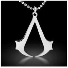 Assassins Creed Black Flag Game Ezio Symbol Logo Pendant Chain Necklace Cosplay
