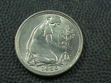 WEST GERMANY  50 Pfennig  1950  -  G  AU   ,  $ 2.99  Maximum  shipping  in  USA