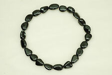 12x16mm Smooth Nugget Shape Black Spinel Bead
