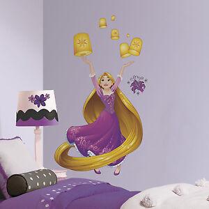 Rapunzel Giant Wall Decals Disney Princess Mural Stickers Girls Purple Room Deco