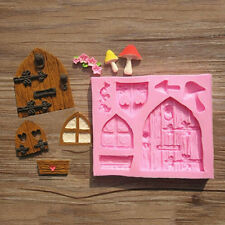 Home Cake Mold Mould Silicone 3D Fairy House Door Decorating Xmas Supplies