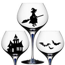 9x spooky halloween verre vin decal autocollants parti décoration mur fenêtre