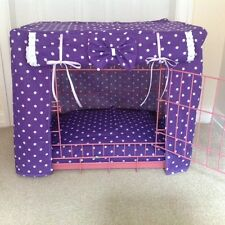 MADE TO MEASURE DOG / PUPPY CRATE / CAGE COVER / SPOTTY FABRIC / 12 COLOURS