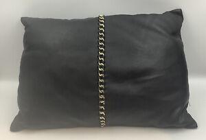 Zara Home Small Black Leather Cushion