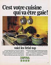 PUBLICITE ADVERTISING 084 1974 TEFAL casseroles top