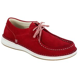 Birkenstock PASADENA Red Suede Lace Up Men's Shoes