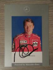Mika Häkkinen original handsignierte Autogrammkarte / Formel 1 Mercedes T17