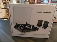 audio technica turntable with speakers  AT-LP60BK