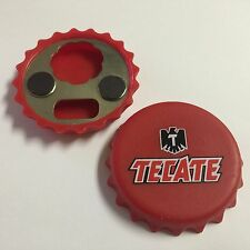 Tecate Cerveza beer magnetic bottle cap opener NEW