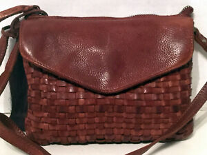 Vilenca Holland  Leather Crossbody  Purse Brown NWT