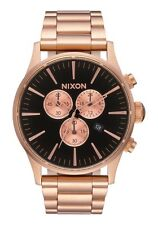 NEW NIXON SENTRY CHRONO ALL ROSE GOLD / BLACK  A386 1932