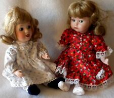 "2 Small Porcelain Dolls 8""  Repair Parts  Arms, Legs, Head, Clothes, etc."