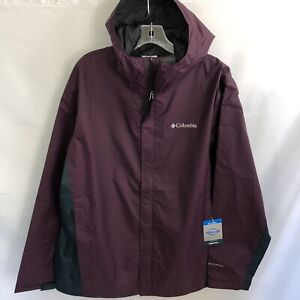 NWT Mens Columbia Timber Pointe II Waterproof Hooded Rain Jacket Large