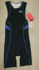 TYR Male Triathlon suit with front zipper - Black/Blue/White - Size: Small