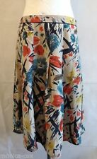 Laura Ashley Knee Length Silk Floral Skirts for Women