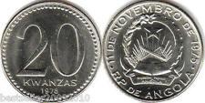 ANGOLA 20 KWANZA RARE OLD COIN # 2158