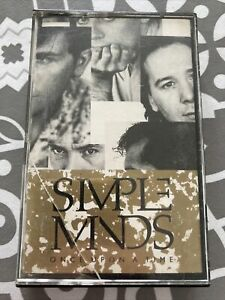 Simple Minds Once Upon A Time CASSETTE ALBUM Electronic Synth-pop White Shell