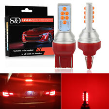 2x Red 7443 7440 T20 12SMD 3535 LED Bulbs Car Brake Reverse Parking Light Lamps