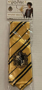 New Harry Potter Hufflepuff  House Cosplay Costume Necktie Silk Tie